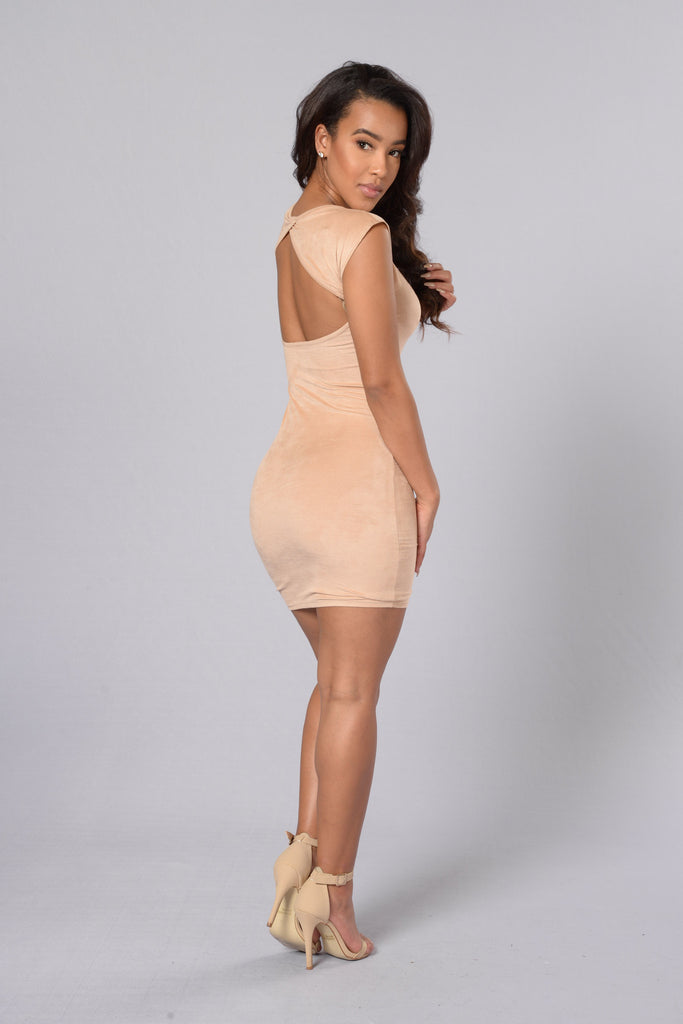 Alesia Dress - Taupe