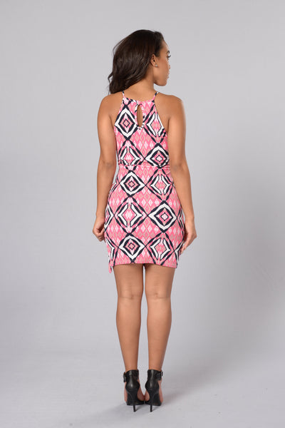 Forbidden Temple Dress - Pink