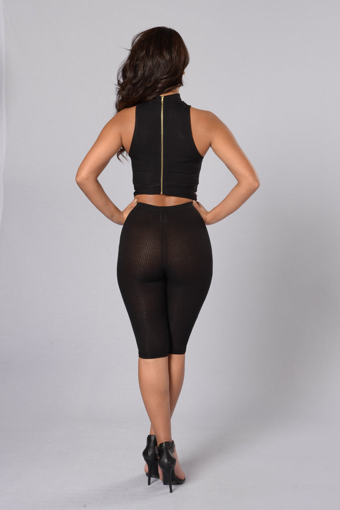 Runaway With Me Crop Legging - Black