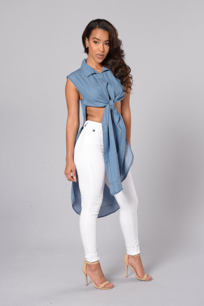 Alabama Slamma Crop Top - Blue