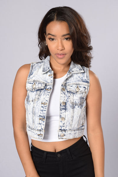 Valley Girl Denim Vest