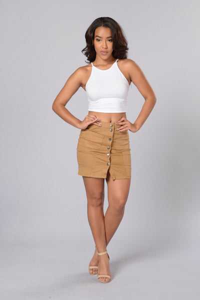 Hit The Road Skirt - Wheat