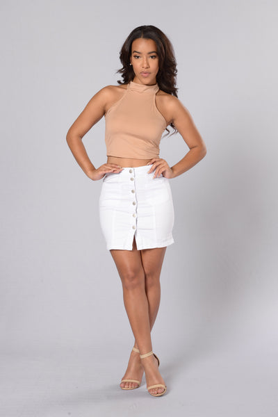 Hit The Road Skirt - White