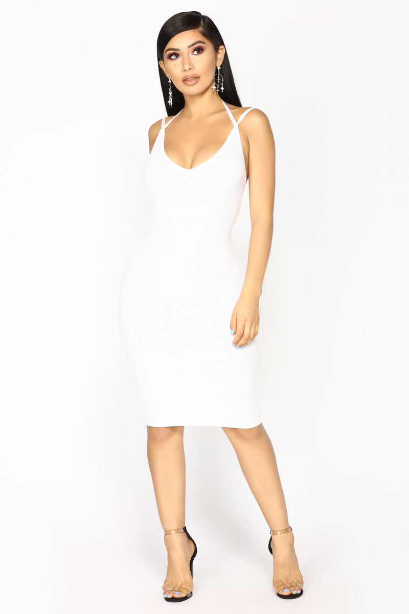 Adria Midi Dress - Off White