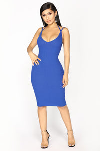 Adria Midi Dress - Royal