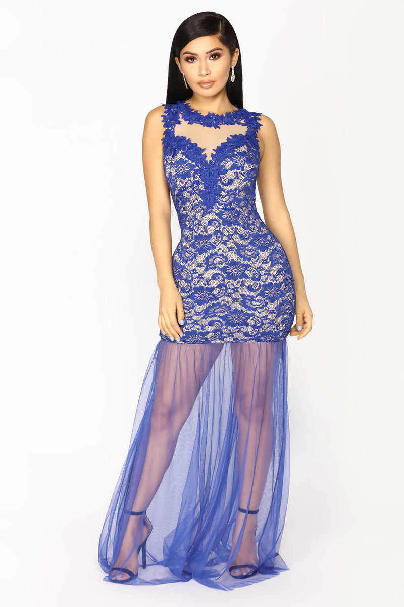 Lace And Lovers Maxi Dress - Royal