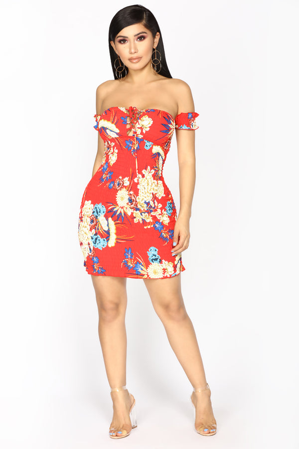 fce1254ee4b Meant To Be Mini Dress - Red