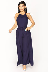 Pursuit Of Happiness Woven Jumpsuit - Navy