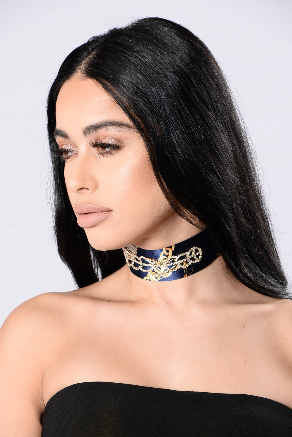 Know What's On Your Mind Choker - Navy