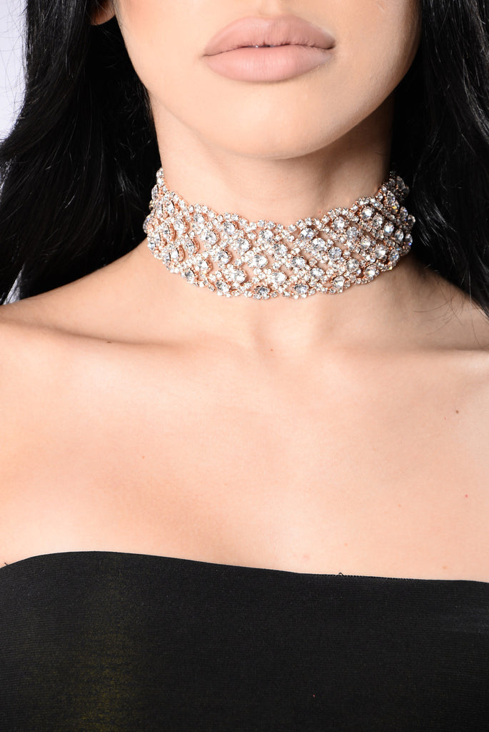 Drooling Over You Choker - Rose Gold
