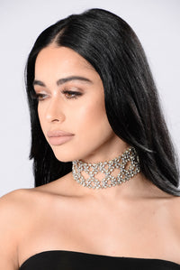 So If I Love You Choker - Silver