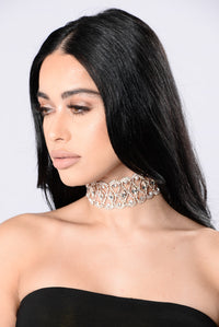 Warm Thoughts Choker - Rose Gold Angle 2