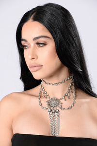 Make A Statement Necklace - Silver