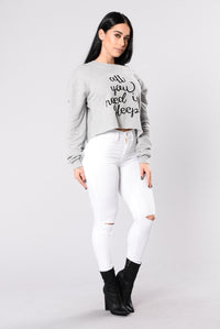 Catching Z's Top - Heather Grey