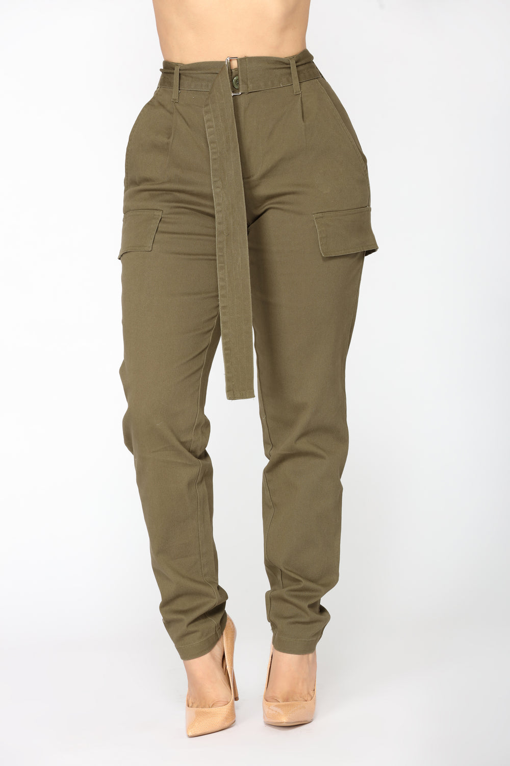 Hailey Cargo Pants- Olive
