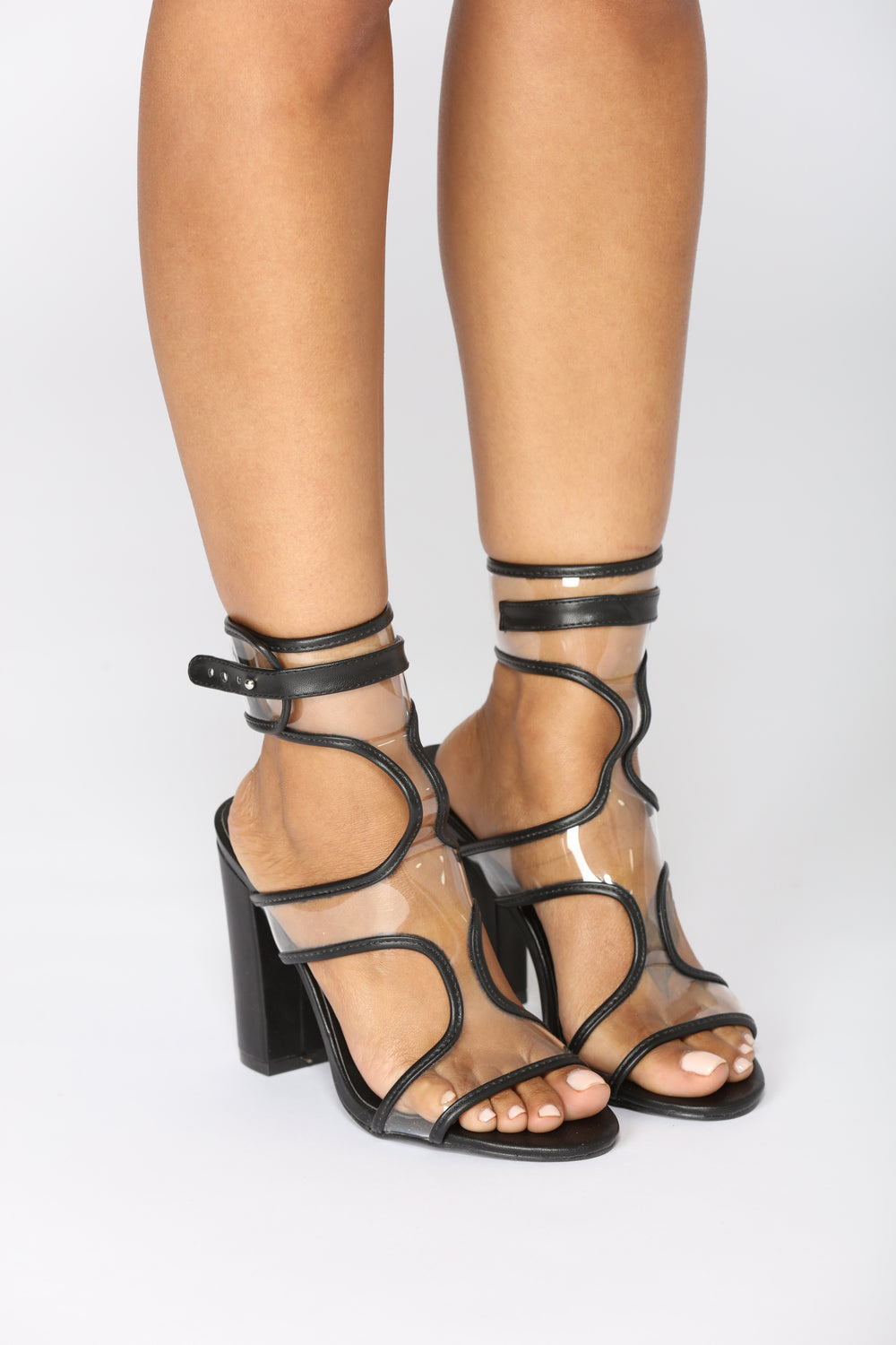 Rip The Runway Heel - Black PU