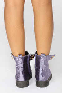 Crushin It Velvet Boot - Purple