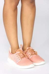 Sparkle In Stride Sneaker - Pink Angle 3
