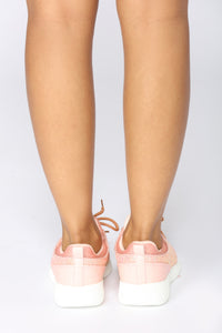 Sparkle In Stride Sneaker - Pink Angle 6