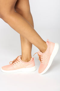 Sparkle In Stride Sneaker - Pink Angle 2