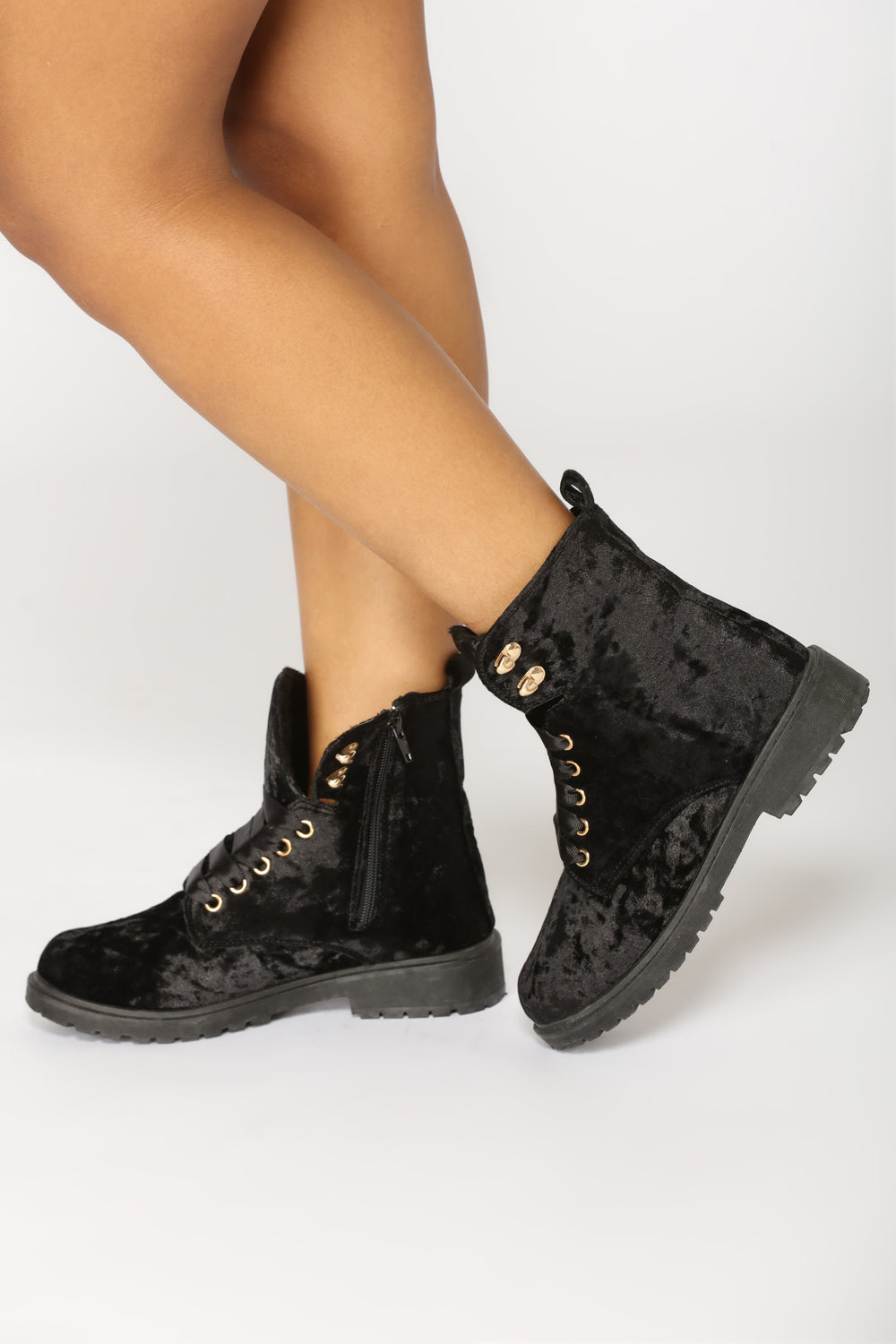 Crushin It Velvet Boot - Black