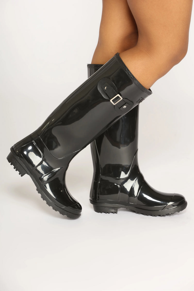 Don't Rain On Me Boots - Black