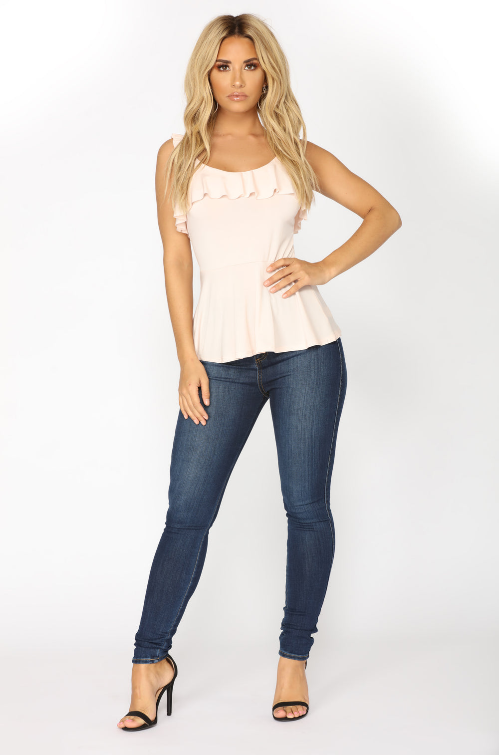 Some Girls Ruffle Top - Blush