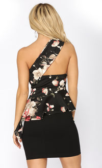 Precious Love Floral Top - Black Combo