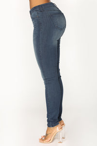 Can't Let You Go Skinny Jean - Dark Wash
