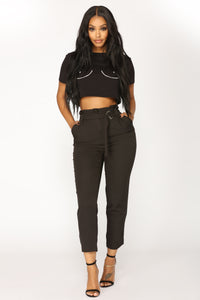 Mytrice Trouser Pants - Black