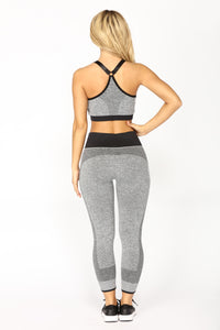 On The Move Active Pant Set - Black