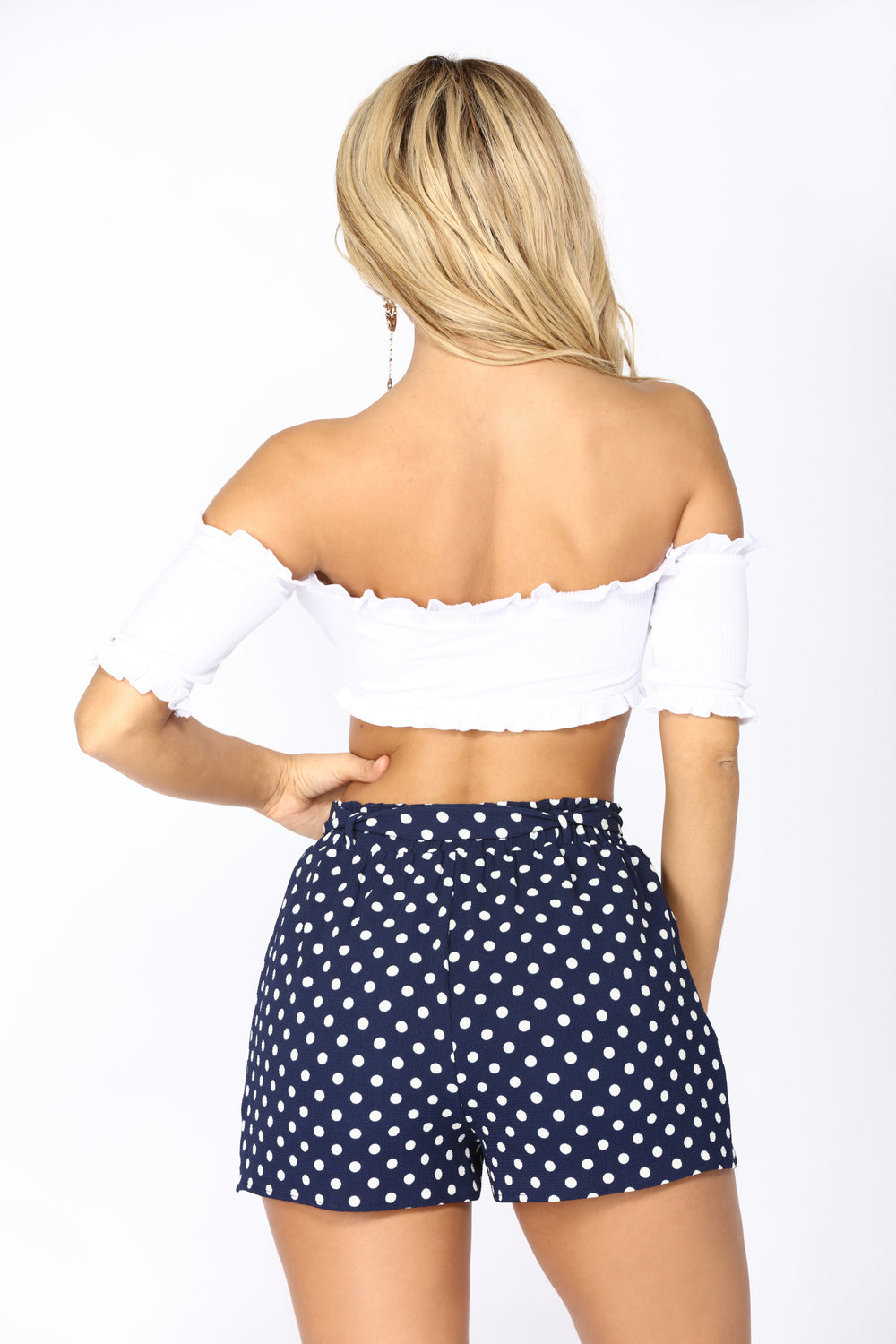 Perfect Illusion Off Shoulder Crop Top - White