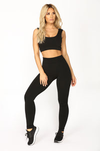 Effortless Fleece Leggings - Black