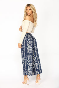 Melanie Cropped Pants - Blue
