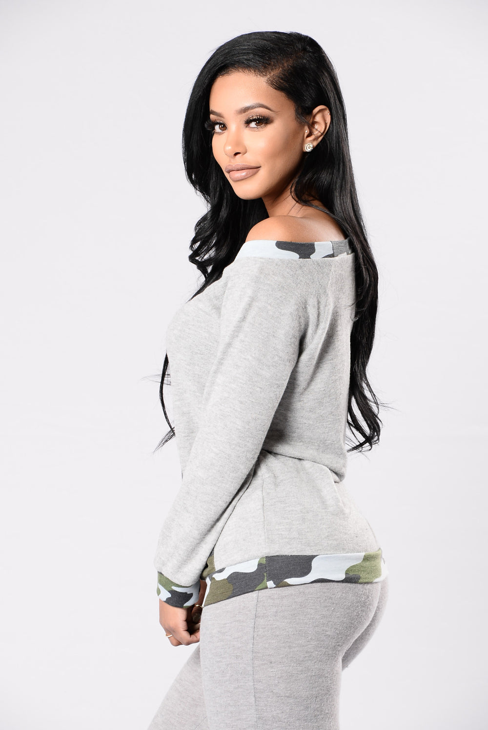 On Leave Top - Heather Grey