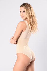 Sexy bodysuit in nude color for women Angle 3