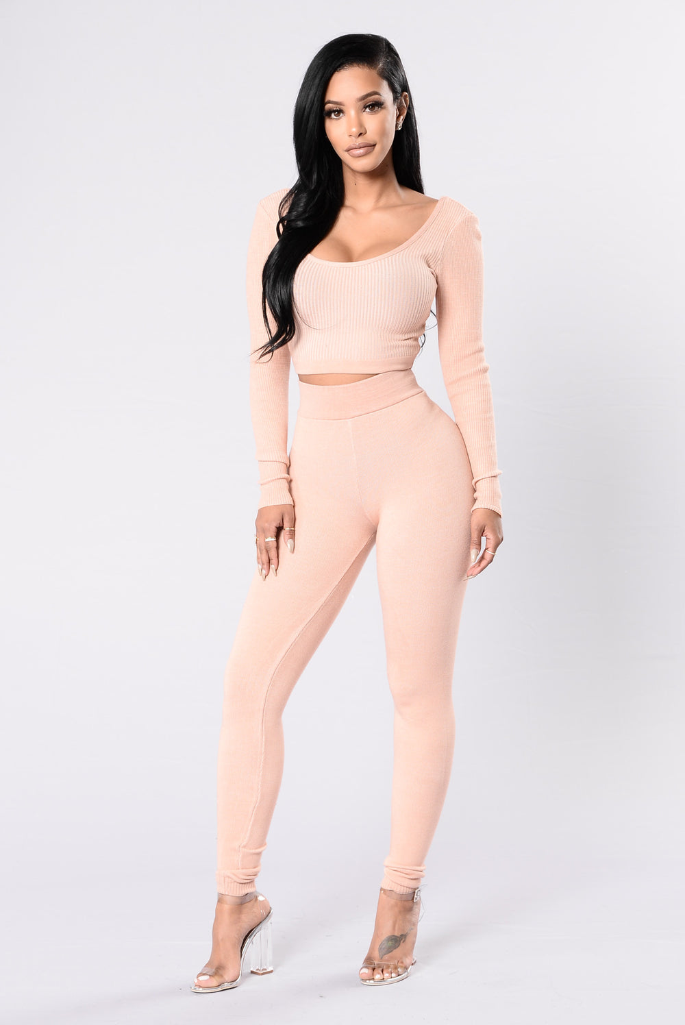Hot Off The Press Leggings - Blush