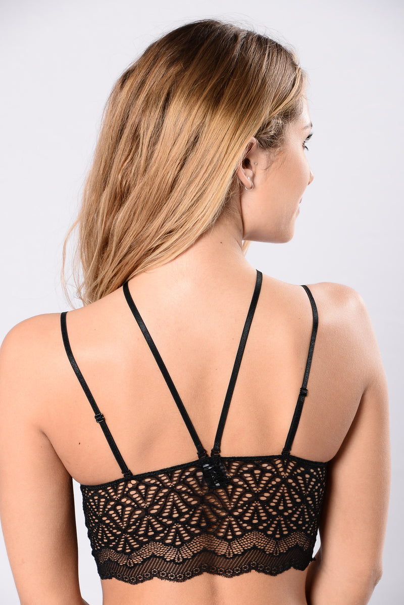 Sweet Surprise Lace Bralette - Black