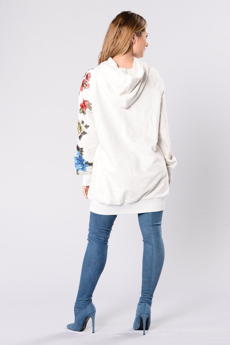Counting The Leaves Tunic - Oatmeal