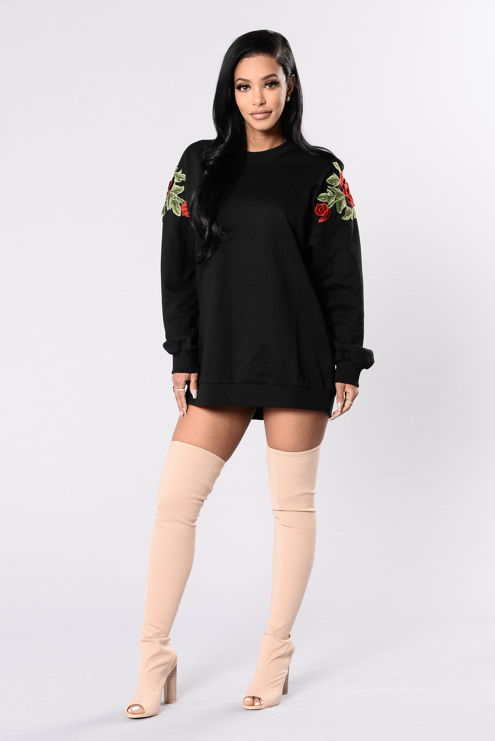 Rose Thorn Tunic - Black