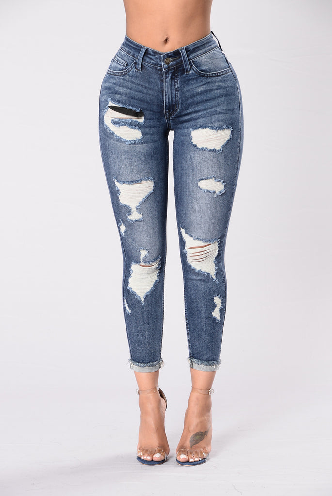 Living It Up Jeans - Medium Dark