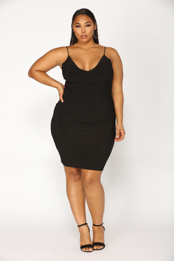 cdc6d974a3 Plus Black Dresses