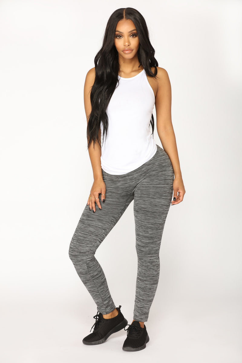 Hold On Tight Seamless Leggings - Black/Grey