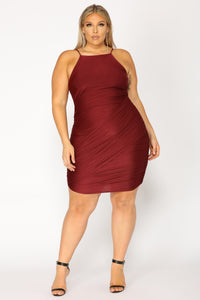 Bottle Service Mini Dress - Red