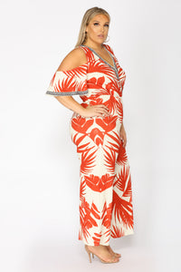 See The Sunrise Tropical Jumpsuit - Ivory/Red Angle 7
