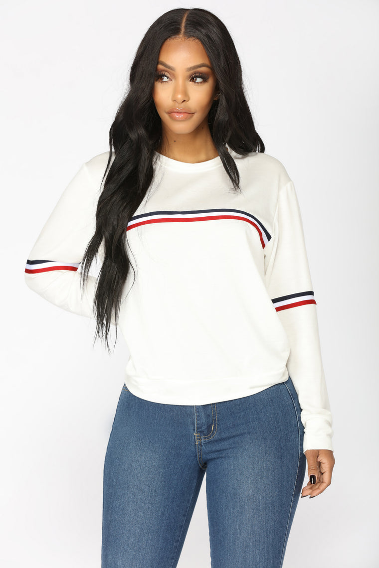 Charly Long Sleeve Top - White