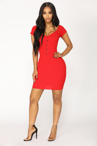 Henriette Mini Dress - Red