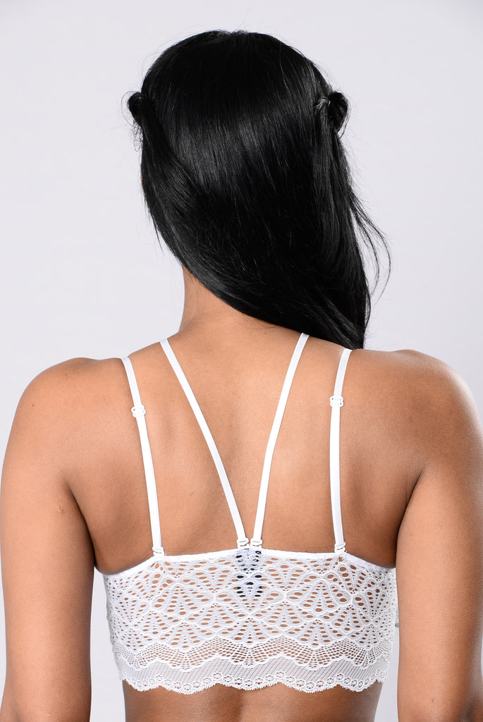 Sweet Surprise Lace Bralette - White