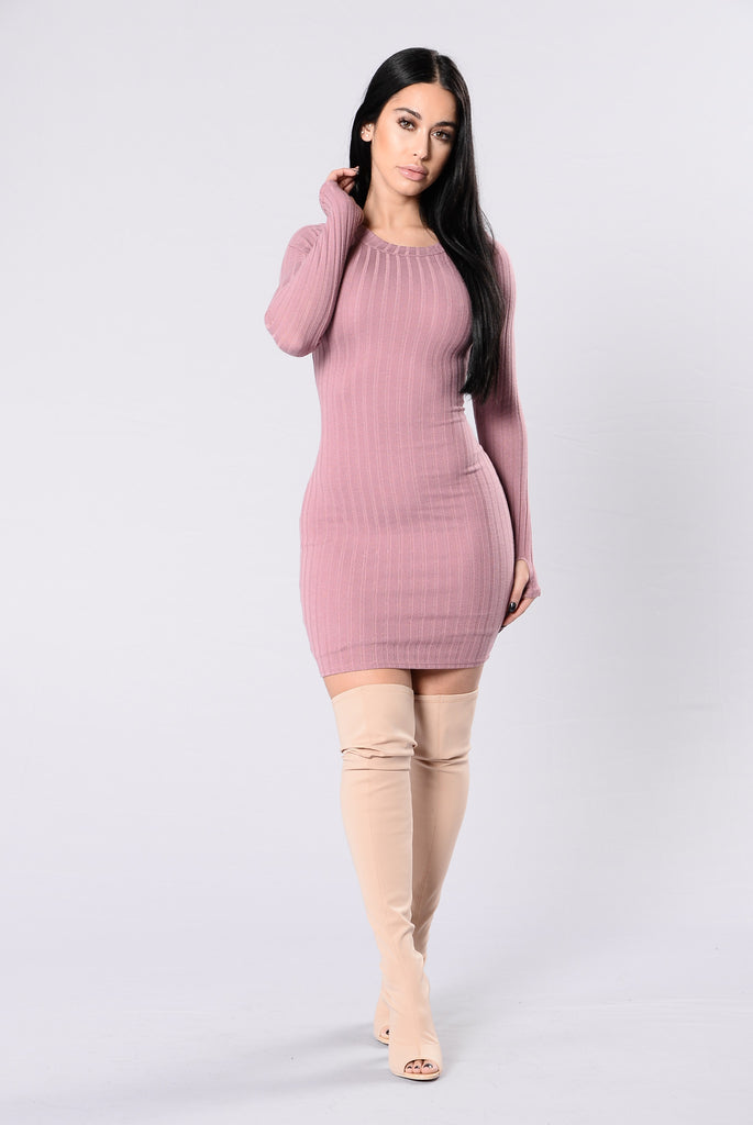 Dark Horse Dress - Dusty Pink