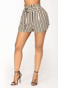 Marie Striped Shorts - Blue/Beige